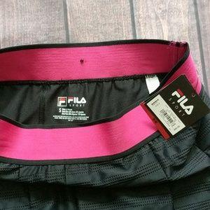 Fila Shorts - Fila Sport   NWT Pink and Black Tennis Skort